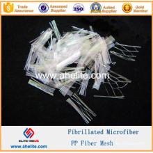 PP Mesh Fiber Micro Synthetic Fibers Microfiber Fibrillated