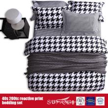 133 * 72 gedruckt schwarz weiß Bettbezug für Hotel / Home Use