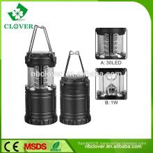 High brightness portable 30 SMD LED camping equipment led camping lantern
