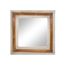 Miroir en toile de cuir
