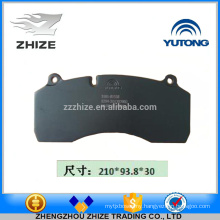 Hot sale Bus spare part 3501-01538 Front disc brake pad for Yutong ZK6930H