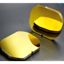 Miroir Carbone Silicium Revêtement Or Protégé