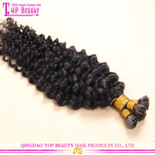 Factory price hot selling 10-30inch natural color nail tip hair extensions