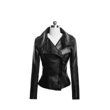 15PKPU05 hiver mode veste en cuir femmes