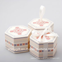 Hexagonal Printing Paper Cardboard Box for Candy Apple Cake