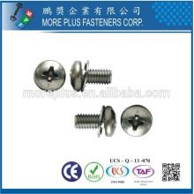Taiwán Philip Pan cabeza suave máquina tornillo con punto de cabecera SEMS con arandela doble arandela de dientes externa y lavadora plana