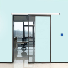 no touch interior magnetic automatic sliding glass door for office hospital