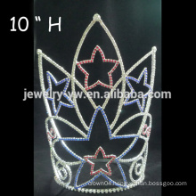 Fashion Crystal Bridal Crown, beauty pageant crown, Star Pageant Tiara queen crown for sale
