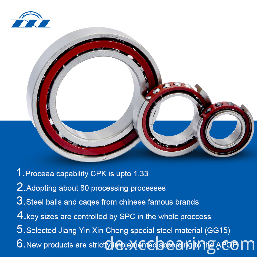 High precision standard angular contact ball bearings