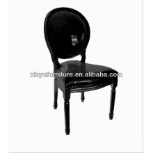 Black glossy leather restaurant banquet chair XD1017
