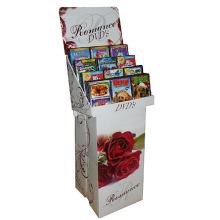 Vier Farben Karton Display Regal, Bücher Display Rack