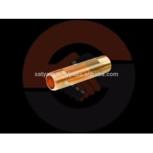 Acessórios de encanamento de latão / aço inoxidável OEM - Brass Plumbing Nipple com fios nas extremidades