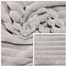 100% Polyester Flanell Fleece Minky Stripes Stoff