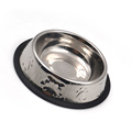 Stamp Dog Bone Paw en acier inoxydable Pet Bowl