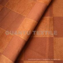 Tissu en polyester suédé avec traitement scellé pour canapé
