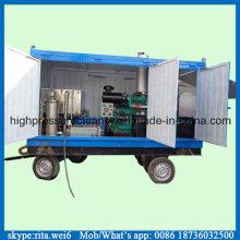 Diesel Industrial desentupidor alta pressão, equipamento de lavagem