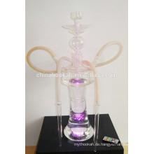 GH078-LT Borosilikatglas Wasserpfeifen Shisha / Nargile / Wasserpfeife / mit LED-Licht / Sheesha / Narguile