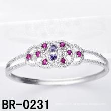 Bracelet CZ coloré en argent Sterling Silver (BR-0231)