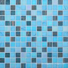 20*20mm Swimming Pool Glass Mosaic Gold Line Mosaic