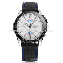 Deporte calendario dos ojos negro pulsera reloj silicona