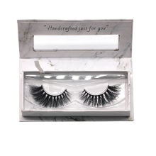7D44 Hitomi custom lash box mink eyelashes vendor paper eyelash packaging 3d real mink eyelash