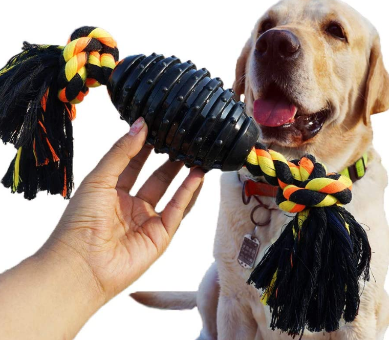 Durable Dog Chew Toys Combine Ball Rope Dog Toy