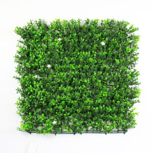 Artificial topiary boxwood hedge with planter for balcony privacy screen