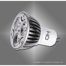 GU10 E27 Gu5.3 MR16 3W Power LED-Strahler