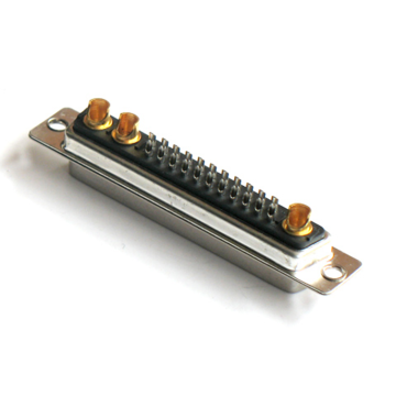 Power Standard D-SUB 25W3 40A Male Solder Straight