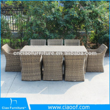 Western Style Hand Carved Outdoor Dining Furniture Rattan