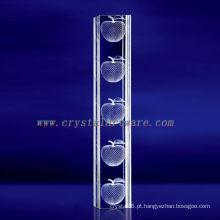 K9 3D Laser Apple Gravado Cristal com Forma de Coluna