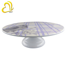 "Factory custom high quality 12"" melamine plastic cake stand for home or wedding"