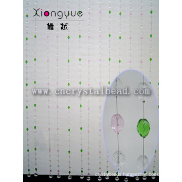 Decorative Pink And Green Color Crystal Glass Beaded Curtains