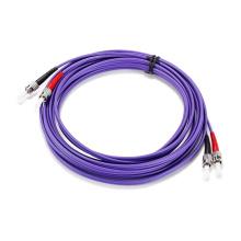 Cable de remiendo a dos caras púrpura del St-St Purple Om4 de la baja pérdida del precio de fábrica
