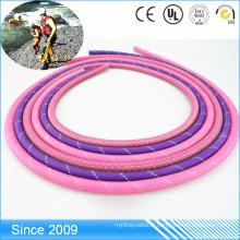Laisse ronde molle durable de chien de corde faite avec la corde en nylon enduite de PVC