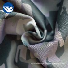 Tela impressa poliéster militar da camuflagem da roupa uniforme