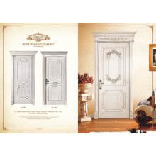 Nouveau produit Meilleure vente Porte en bois massif en verre avec un verrou de porte de bonne qualité