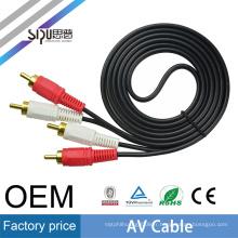 SIPU usine prix 2rca av câble pour ordinateur portable vidéo en gros audio vidéo câble meilleur prix rca câble