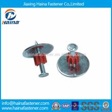 Clavos de transmisión de alta calidad / ZD de aluminio Clavos de disparo con arandela de acero y flauta