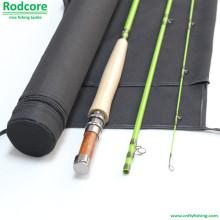 Grünes Blatt Gr805-3 Klassisches mäßiges Fiberglas Fliegenruten