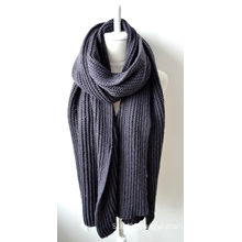 Acrylic Knitted Shawl (12-BR201812-12)