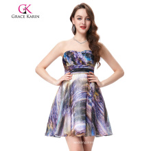 Grace Karin Sleeveless Chiffon Printed Short Prom Dress GK000114-1