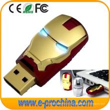 Personaliza Logos Ironman USB Flash Drive para regalo promocional (ED197)
