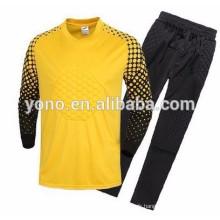 2016 date personnalisée design vente chaude bonne qualité respirant football jersey gardien de but chemise en gros
