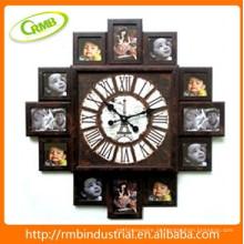 Relógio de parede com moldura de foto (RMB)