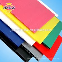Hoja plástica corrugada del corrugado de los PP blancos de encargo de la fábrica 2-12m m / tablero hueco