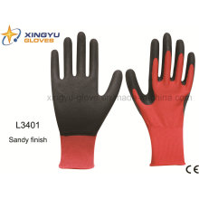Polyester Shell Latex Coated Sandy Finish Safety Work Glove (L3401)
