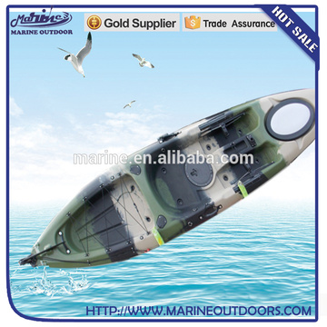 Single Sit On Top Fishing Kayak with disruptive pattern
