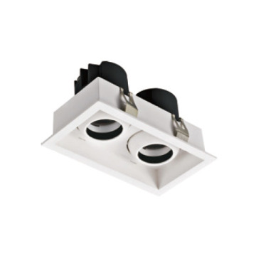 Spot encastrable rectangulaire 12W * 2 LED Commerical