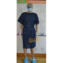 Vestido desechable para pacientes no tejidos de PP